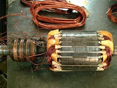 Ремонт, перемотка обмотки электродвигателя MTH