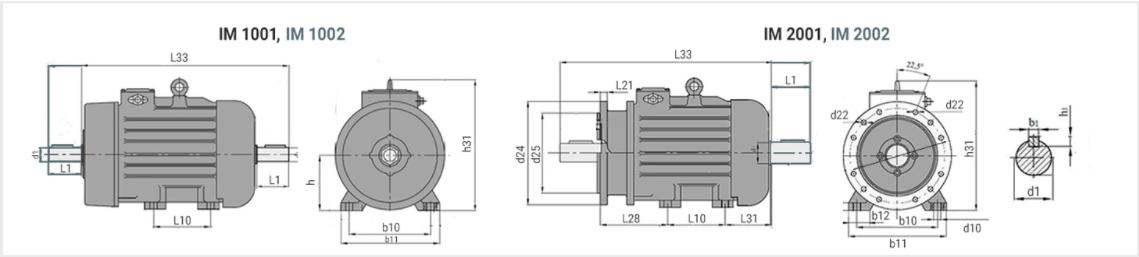 Чертеж кранового электродвигателя